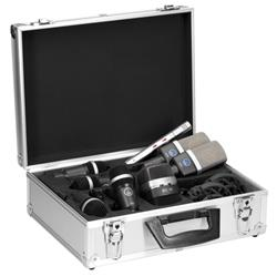 Drumset Premium, 1x D12VR, 2x C214, 1x C451, 4x D40 + K&M klämma
