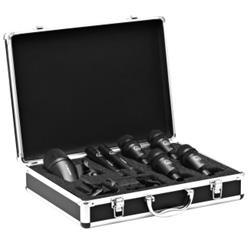Drumset Session 1, 1x P2, 2x P17, 4x P4 hållare och väska