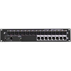 MSB16R, Mini Stagebox 16 micpre, 8 analog ut, SiMADI/USB kort medföljer
