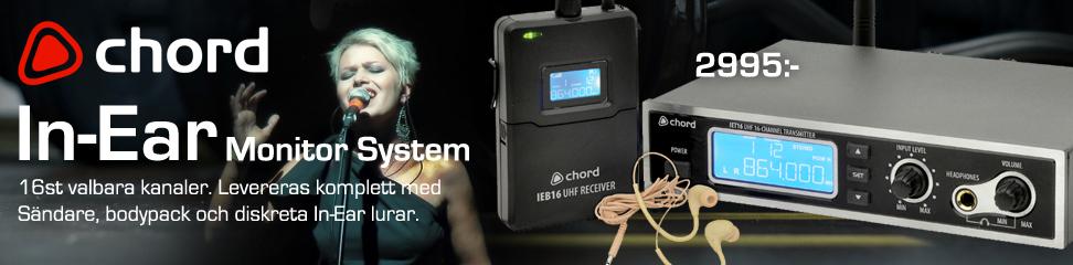In-Eear system, din personliga monitor på scenen!