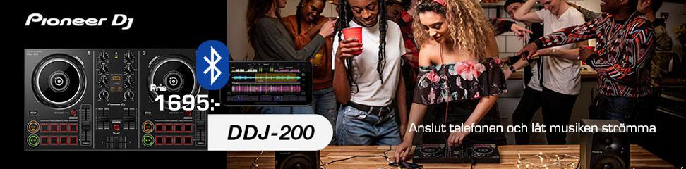 DDJ-200 kontroller med Bluetooth