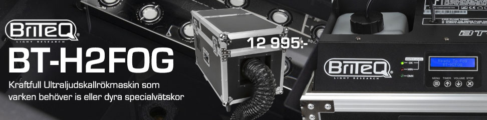Kallrökmaskin som jobbar med Ultraljud