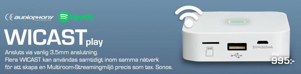 Musikströmmning via Wi-Fi